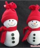 Noel này làm người tuyết béo múp tặng nhóc em