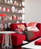 Ấm áp căn phòng màu đỏ cho mùa lạnh