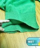 Cắt xén áo len cũ thành mũ xinh ấm áp