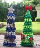 Cây thông Noel siêu đẹp từ dây ruy băng