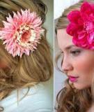 5 phút biến hóa làm hoa cài đầu cực xinh