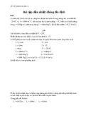 Bài tập dẫn nhiệt không ổn định