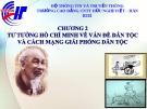 Chương số 2. Tư tưởng Hồ Chí Minh về vấn đề dân tộc và cách mạng giải phóng dân tộc