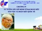 Tư tưởng Hồ Chí Minh  về đại đoàn kết dân tộc và đoàn kết quốc tế, chương 4