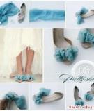 3 cách tân trang giày dự tiệc bằng vải