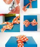 Học nhanh cách thắt nơ hộp quà với dây vải