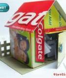 Ngôi nhà an ủi tái chế từ vỏ hộp kem đánh răng cũ