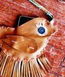 Túi da vintage hình chú chim nhỏ xinh xắn