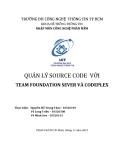 QUẢN LÝ SOURCE CODE VỚI TEAM FOUNDATION SEVER VÀ CODEPLEX