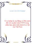 LUẬN VĂN: Cơ sở pháp lý của Đảng và Nhà nước đối với sự phát triển CNTT trong chiến lược phát triển kinh tế xã hội của Việt Nam