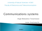 COMMUNICATIONS SYSTEMS - Angle Modulation Transmission