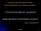Communications systems Single-side Band Communications Systems