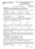 Đề thi khảo sát chất lượng khối 12 lần 1 môn hóa trường THPT Lương Đắc Bằng