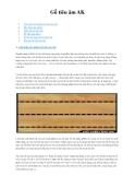 Vật liệu xử lý âm thanh - Gỗ tiêu âm AK