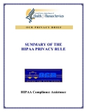 SUMMARY OF THE HIPAA PRIVACY RULE
