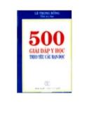 Ebook 500 giải đáp y học theo yêu cầu bạn đọc - Lê Trọng Bổng