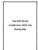 Tìm hiểu Brand Architecture: Kiến trúc thương hiệu