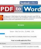 Chuyển file PDF thành file Word