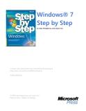 Windows 7 Step by Stepby Joan Preppernau and Joyce CoxTo 1