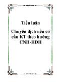 Chuyển dịch nền cơ cấu KT theo hướng CNH-HĐH