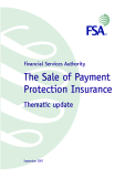 The Sale of Payment Protection Insurance