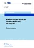 Multidimensional screening in a monopolistic insurance market: proofs
