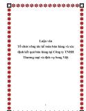 Luận văn Tổ chức công tác kế toán bán hàng và xác định kết quả bán hàng tại Công ty TNHH Thương mại và dịch vụ Song Việt