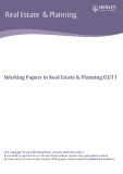 Working Papers in Real Estate & Planning 03/11