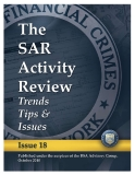 The SAR Activity Review: Trends Tips &  Issues