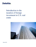 Introduction to the taxation of foreign investment in U.S. real estate