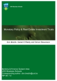 Monetary Policy & Real Estate Investment Trusts