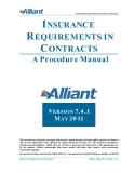 INSURANCE REQUIREMENTS IN CONTRACTS: A Procedure Manual