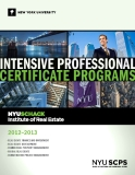 INTENSIVE PROFESSIONAL CERTIFICATE PROGRAMS