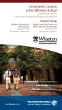 Investment Courses at the Wharton School
