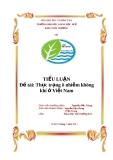 Tiểu luận: Thực trạng ô nhiễm không khí ở Việt Nam