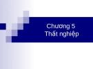 Bài giảng: Chương 5 - Thất nghiệp