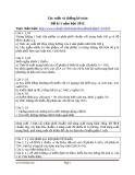 Xác suất và thống kê toán Đề kì 1 năm học 2012