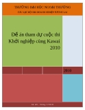 Đề án tham dự cuộc thi Khởi nghiệp cùng Kawai 2010