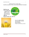 Đề tài: Nguyên liệu sản xuất bia