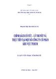 Luận văn: Chính sách cổ tức -Lý thuyết và thực tiễn tại một số công ty cổ phần khu vực TP.Hồ Chí Minh
