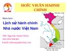 Lịch sử hành chính Nhà nước Việt Nam