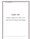 Luận văn: Nghiệp vụ Quản trị tài chính về vốn kinh doanh của Công ty Tuyên Quang
