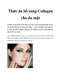 Thức ăn bổ sung Collagen cho da mặt
