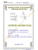 Hệ thống lý thuyết - bài tập chuyên đề luyện  thi đại  học vật lý 2013, chuyên đề 2: Dao động cơ học