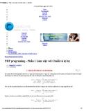 PHP programing - Phần 1 Làm việc với chuỗi và ký tự