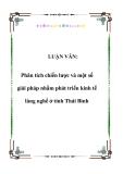 LUẬN VĂN:  Phân tích chiến lược và một số giải pháp nhằm phát triển kinh tế làng nghề ở tỉnh Thái Bình