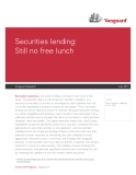 Securities lending: Still no free lunch