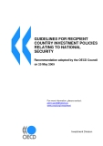 GUIDELINES FOR RECIPIENT  COUNTRY INVESTMENT POLICIES  RELATING TO NATIONAL  SECURITY
