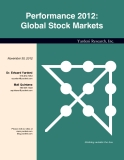 Performance 2012: Global Stock Markets