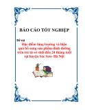 Luận văn: Đặc điểm tăng trưởng và hiệu quả bổ sung sản phẩm dinh dưỡng trên trẻ từ sơ sinh đến 24 tháng tuổi tại huyện Sóc Sơn- Hà Nội